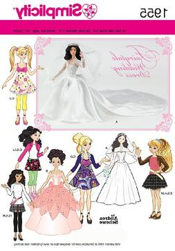 Simplicity Pattern Special Occasion and Sportswear Doll Clot