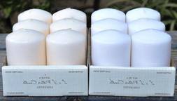 SPRINGROSE 2 X 3 Inch White Pillar Candles. These Are Perfec