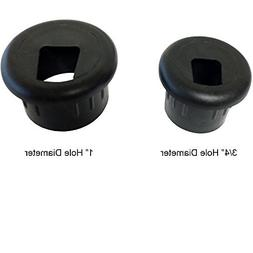 "3/4"" Phone and Fax Plastic Grommet - Color: Black - 10 Piece"