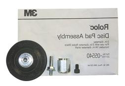 "3M 3"" Roloc Disc Pad Assembly for Sandpaper Discs w/ Shank &"