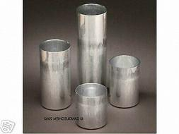 Round Pillar Seamless Aluminum Candle Molds 3 inch size