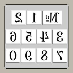 set 11 french number stencils available in