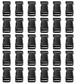 """Tayeel 30 Pack 0.75"""" Side Quick Release Plastic Buckles Blac"""
