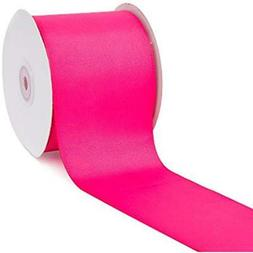 "Creative Ideas 3"" Solid Grosgrain Ribbon, 25 yd, Hot Pink"