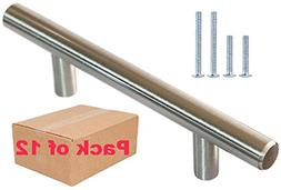 """Stainless Steel Cabinet Hardware Handles 3"""" Hole/Cntr Bar Pu"""