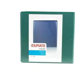 Staples Standard 3-Inch D-Ring Binder Green  110080