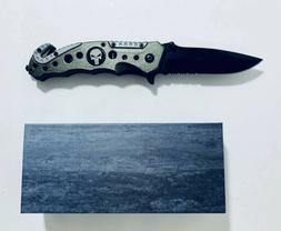tactical knife 3 1/2 inches 3mm thick stainless steel Blade
