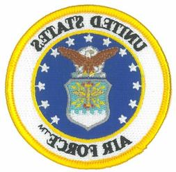 US AIR FORCE 3 INCH ROUND PATCH - MADE IN THE USA!