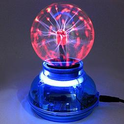Auntwhale 3 Inch USB Powered Magic LED Plasma Ball Butterfly