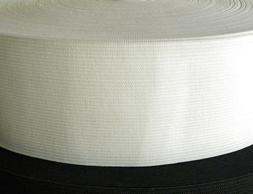 "White 3"" inch Wide Soft Knitted Elastic - 40 Yard rolls ***"