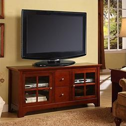 """Walker Edison 53"""" Wood TV Stand Console with Storage Drawers"""